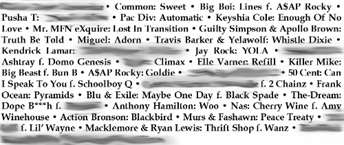 Chop Steak Christmas Mixtape 12 Track List