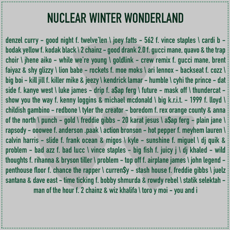 christmas mixtape 2017 nuclear winter wonderland track list